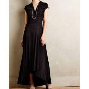 Anthropologie Maeve Desert Star Maxi Black Dress L